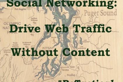 Driving web traffic through social networking