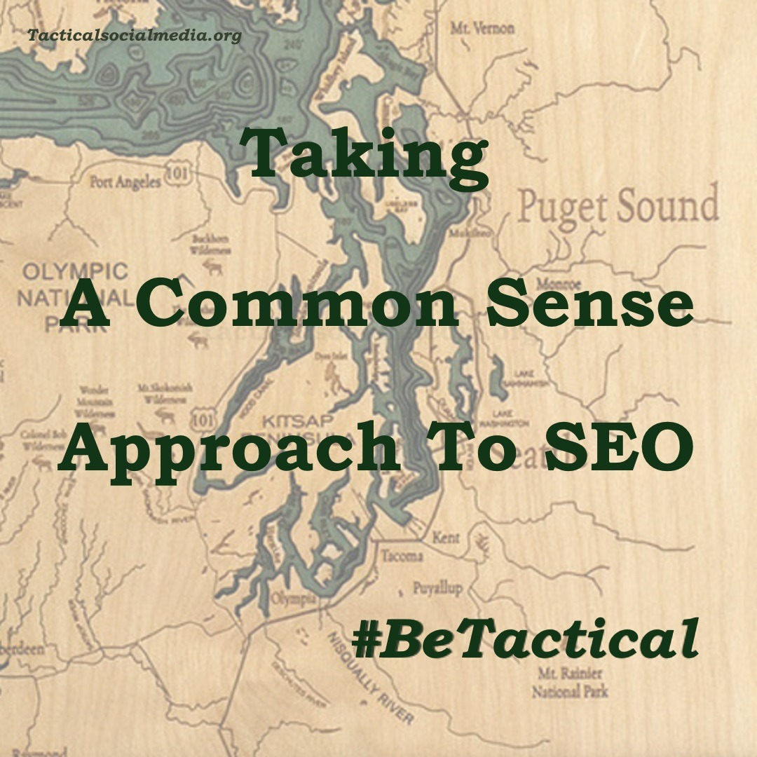 How to improve my SEO and search engine ranking by taking a common sense approach to SEO